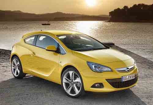 "Opel Astra GTC Car Poster Print on 10 mil Archival Satin Paper 24"" x 18"""