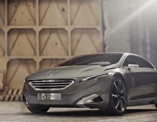"Peugeot HX1 Concept Car Poster Print on 10 mil Archival Satin Paper 24"" x 18"""