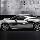 "Alfa Romeo 4C Fluid Metal Concept (2011) Car Poster Print on 10 mil Archival Satin Paper 24"" x 16"""