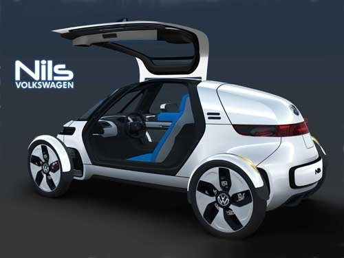 "Volkswagen Nils Concept  Car Poster Print on 10 mil Archival Satin Paper 20"" x 15"""