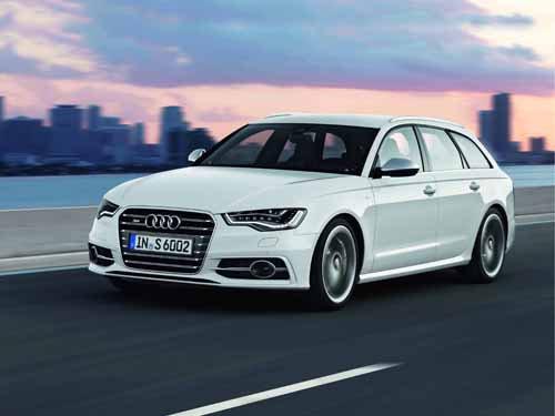 "Audi S6 Avant (2012) Car Poster Print on 10 mil Archival Satin Paper 24"" x 18"""