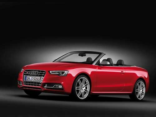 "Audi S5 Cabriolet (2012) Car Poster Print on 10 mil Archival Satin Paper 16"" x 12"""