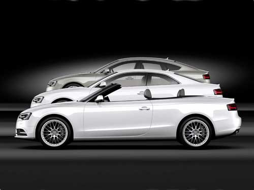 """Audi A5 Lineup (2012) Car Poster Print on 10 mil Archival Satin Paper 36"""" x 24"""""""
