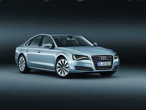 "Audi A8 Hybrid (2012) Car Poster Print on 10 mil Archival Satin Paper 24"" x 18"""