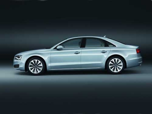 "Audi A8 Hybrid (2012) Car Poster Print on 10 mil Archival Satin Paper 36"" x 24"""