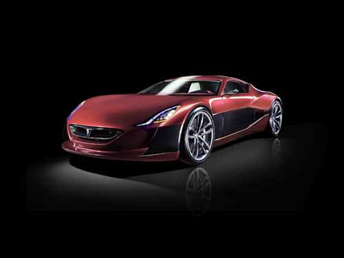 "Rimac Concept One Car Poster Print on 10 mil Archival Satin Paper 36"" x 24"""