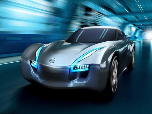 "Nissan ESFLOW Concept Car Poster Print on 10 mil Archival Satin Paper 36"" x 24"""
