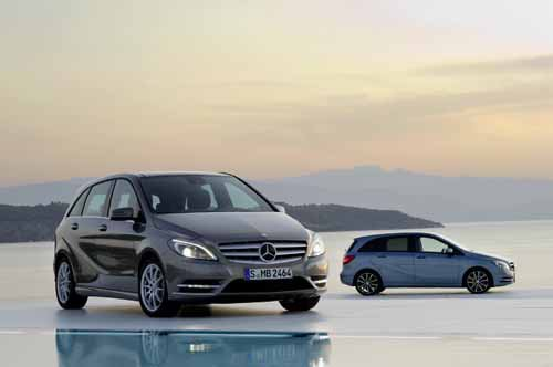 "Mercedes-Benz B-Class (2012) Car Poster Print on 10 mil Archival Satin Paper 36"" x 24"""