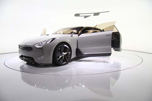 "Kia Sedan Concept Car Poster Print on 10 mil Archival Satin Paper 24"" x 16"""
