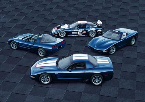 "Chevrolet Corvette Z06 (2001) Car Poster Print on 10 mil Archival Satin Paper 36"" x 24"""