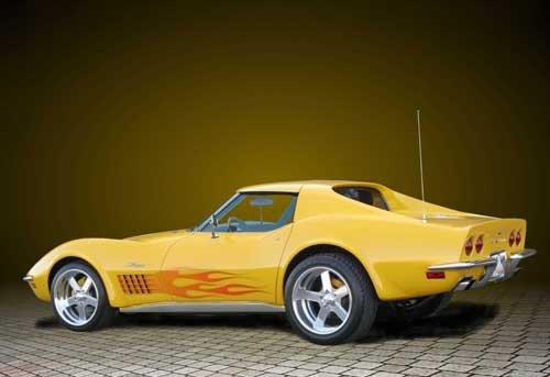 "Chevrolet C3 Corvette Coupe (1972) Car Poster Print on 10 mil Archival Satin Paper 24"" x 16"""