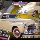 "Buick Convertible Collage (1941) Custom Car Poster Print on 10 mil Archival Satin Paper 30"" x 20"""