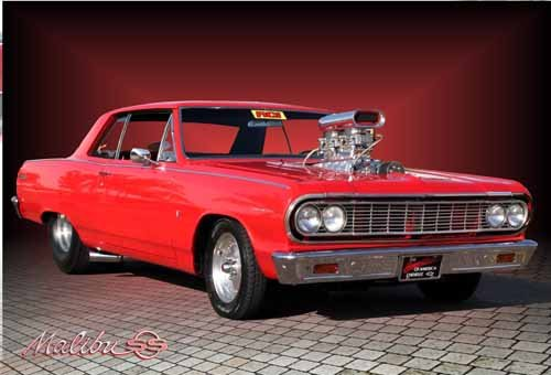 "Chevrolet Chevelle Malibu (1964) Car Poster Print on 10 mil Archival Satin Paper 24"" x 18"""