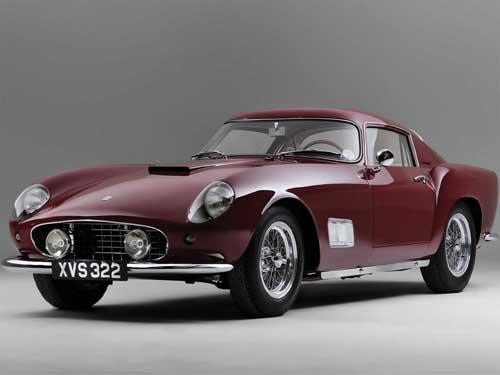 "Ferrari 250 GT Car Poster Print on 10 mil Archival Satin Paper 16"" x 12"""
