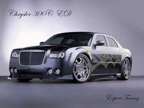 """Chrysler 300C Custom Car Poster Print on 10 mil Archival Satin Paper 16"""" x 12"""""""