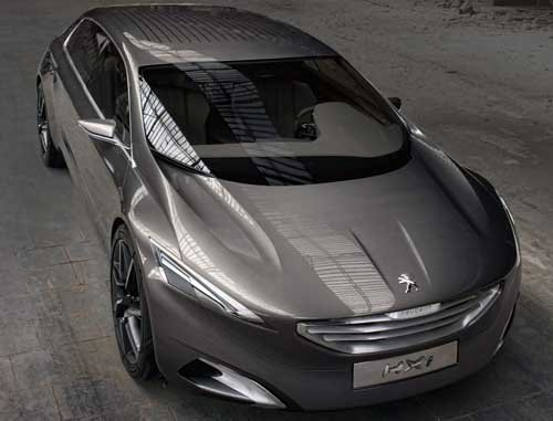 "Peugeot HX1 Concept Car Poster Print on 10 mil Archival Satin Paper 16"" x 12"""