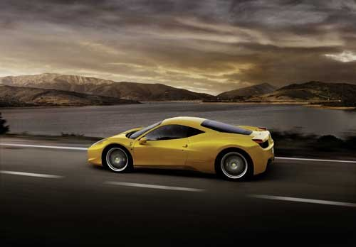 "Ferrari 458 Italia Car Poster Print on 10 mil Archival Satin Paper 16"" x 12"""