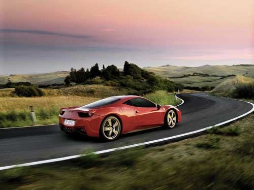 "Ferrari 458 Italia Car Poster Print on 10 mil Archival Satin Paper 36"" x 24"""