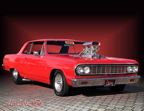 "Chevrolet Chevelle Malibu (1964) Car Poster Print on 10 mil Archival Satin Paper 20"" x 15"""