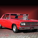 "Chevrolet Chevelle Malibu (1964) Car Poster Print on 10 mil Archival Satin Paper 16"" x 12"""