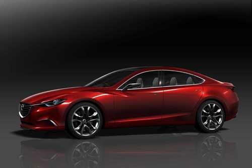 """Mazda Takeri (2012) Car Poster Print on 10 mil Archival Satin Paper 36"""" x 24"""""""