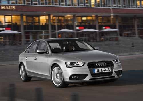 "Audi A4 (2012) Car Poster Print on 10 mil Archival Satin Paper 36"" x 24"""