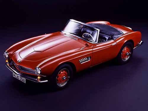 """BMW 507 Convertible (1955) Car Poster Print on 10 mil Archival Satin Paper 16"""" x 12"""""""