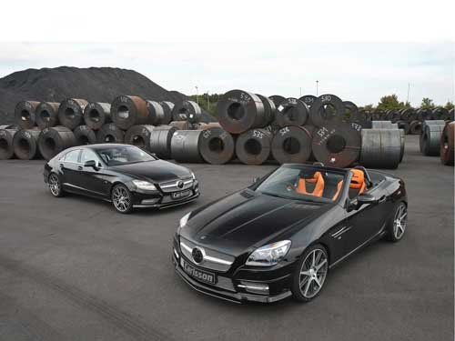 "Carlsson Mercedes-Benz SLK and CLS Car Poster Print on 10 mil Archival Satin Paper 16"" x 12"""