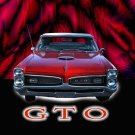 "Pontiac GTO (1966) Car Poster Print on 10 mil Archival Satin Paper 36"" x 24"""