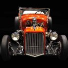 "Ford Roadster T Bucket Custom Car Poster Print on 10 mil Archival Satin Paper 24"" x 18"""