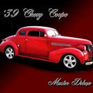"Chevrolet Coupe Master Deluxe (1939) Car Poster Print on 10 mil Archival Satin Paper 24"" x 18"""