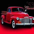 "Chevrolet 1/2T Stepside (1953) Truck Poster Print on 10 mil Archival Satin Paper 24"" x 18"""