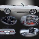 "Chevrolet Camaro (1969) Custom Car Poster Print on 10 mil Archival Satin Paper 16"" x 12"""