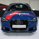 "Audi A1 SAMURAI BLUE Car Poster Print on 10 mil Archival Satin Paper 24"" x 18"""