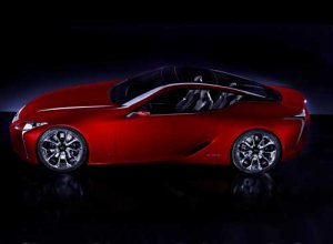 """Lexus LF-LC Sports Coupe Concept Car Poster Print on 10 mil Archival Satin Paper 36"""" x 24"""""""