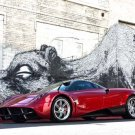 "Pagani Huayra Car Poster Print on 10 mil Archival Satin Paper 16"" x 12"""