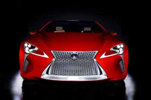 """Lexus LF-LC Sports Coupe Concept Car Poster Print on 10 mil Archival Satin Paper 16"""" x 12"""""""