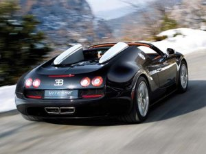 "Bugatti Veyron Grand Sport Vitesse Car Poster Print on 10 mil Archival Satin Paper 20"" x 15"""