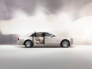 "Rolls-Royce Ghost Six Senses Car Poster Print on 10 mil Archival Satin Paper 36"" x 24"""