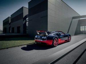 "Bugatti Veyron Grand Sport Vitesse Black/Red Car Poster Print on 10 mil Archival Satin Paper 16""x12"""