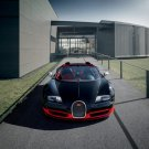 "Bugatti Veyron Grand Sport Vitesse Black/Red Car Poster Print on 10 mil Archival Satin Paper 20""x15"""