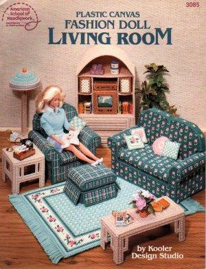 Barbie, Fashion Doll Living Room Plastic Canvas Pattern Book NEW
