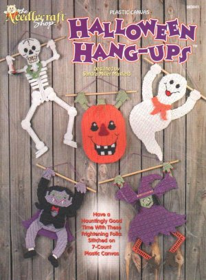Halloween Hang-Ups Plastic Canvas Wall Hangings Pattern Book NEW