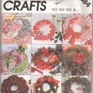 Create A Wreath Each Season Sew Wreaths McCall Craft Pattern UNCUT