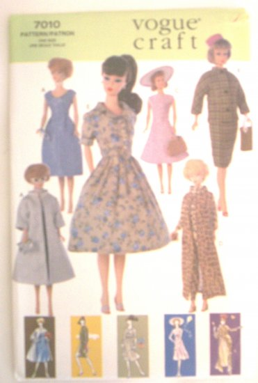 Barbie Retro 60�s Fashions Sewing Pattern Vogue Craft NEW