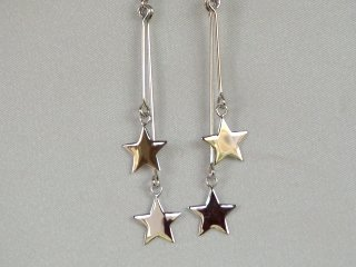Sterling silver earrings in fire work