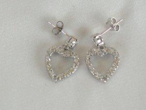Galaxy heart earrings in sterling silver