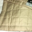 HOTEL COLLECTION COLOR BLOCK King Sham Quilted Stone