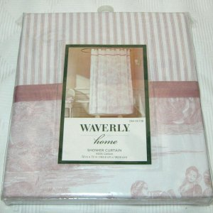 Waverly Toile Fabric Shower Curtain Vintage Rose French review
