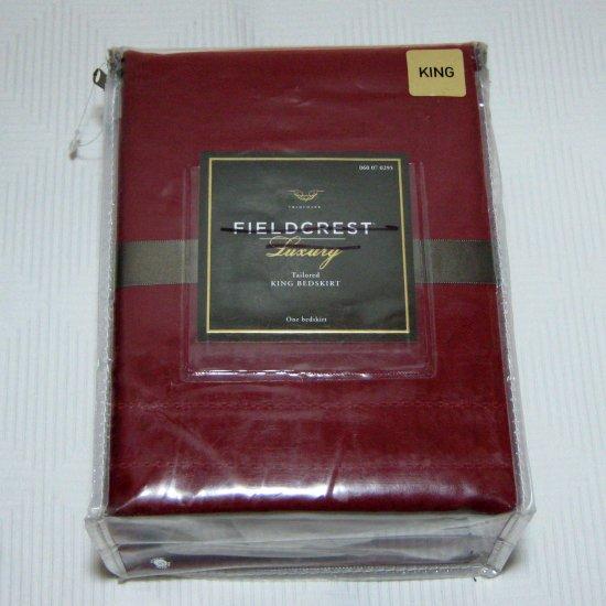 FIELDCREST LUXURY Target Red Berry Spice King Bedskirt NIP Retail $60